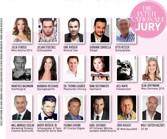 Die Jury der Miss Austria Wahl 2015