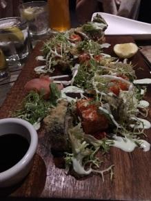 Beim Abendessen musste es natürlich Seafood sein. Paradiesische Zustände für mich als großer Sushi-Fan.