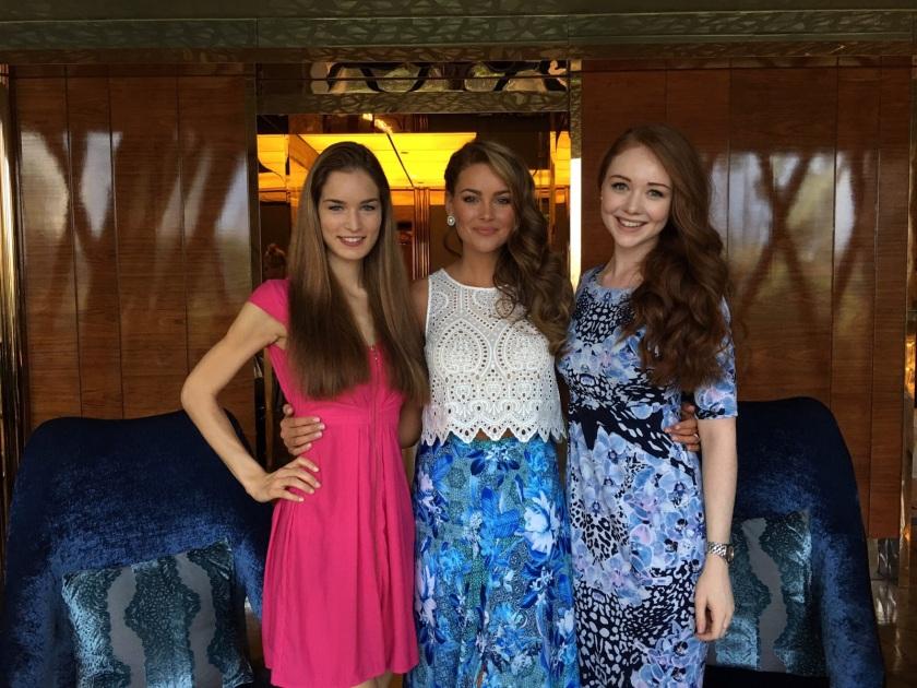 Mit Miss World Rolene Strauss & Miss Australia