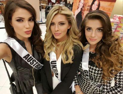 Amina - Miss Ukraine Anna - Miss Georgia Janet