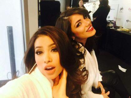 Amina und Miss Vietnam warten auf Bikini-Shooting