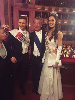 Bundespräsident Heinz Fischer nahm sich ausführlich Zeit für Fabian und Annika...