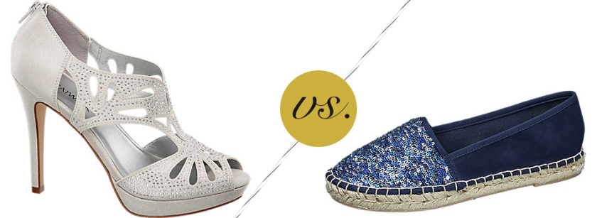Espadrilles vs. High Heels